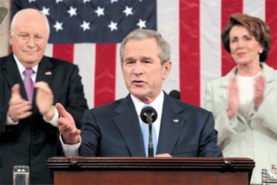 >布什國情咨文強調國內政策