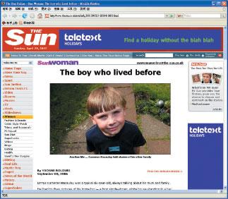 當代的兩世奇人〔之一〕記得前世的英國男孩