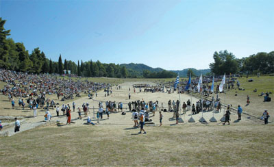 >古奧運表達對神的崇敬和感激