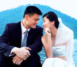 姚明葉莉八年相戀 多少信物印證兩情相悅