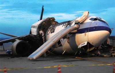 一枚螺絲帽脫軌 華航那霸機場爆炸