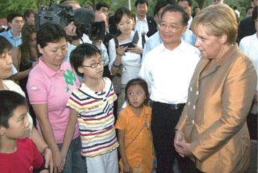 >德國總理訪華 走近中國民間