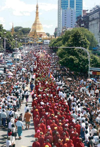 緬甸 的番紅花僧侶革命