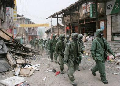 大地震銷毀中國軍隊最大兵庫
