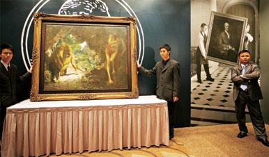 中國油畫「天價神話」瀕臨破滅