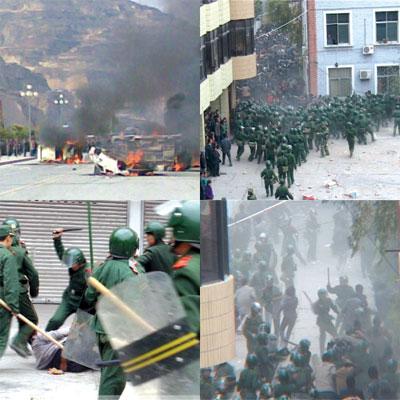 甘肅隴南五萬人抗暴遭鎮壓