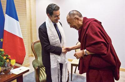 法國總統薩科齊 會見達賴喇嘛