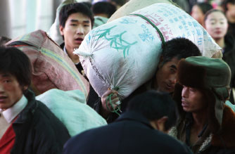 中國失業農民工縮影:開縣