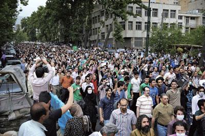 伊朗大選舞弊 引發十年最嚴重示威