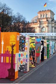 慶柏林牆倒20周年  千幅巨畫展骨牌效應