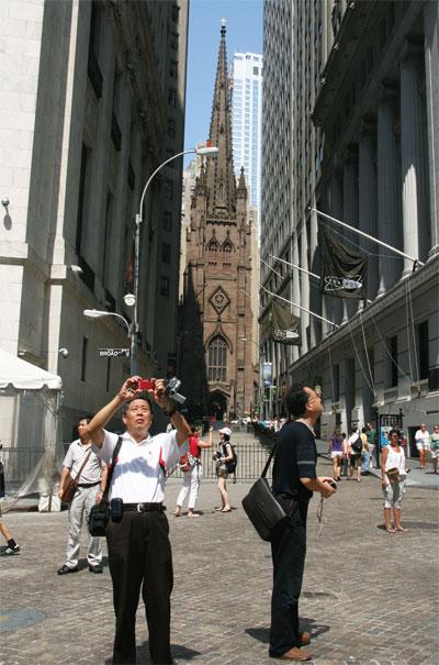 紐約第五大道上的中國遊客