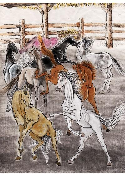 創造 │ 唐朝的寓言:舞馬11 馬廄裡的白獅子