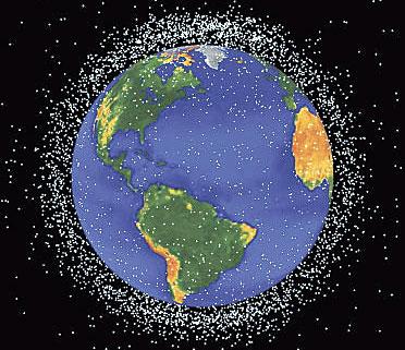 太空垃圾威脅衛星與人類安全