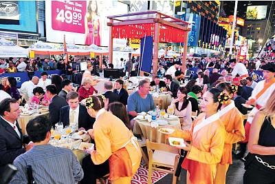 神傳回歸 | 中國菜廚技大賽 盛唐古長安再現紐約時代廣場