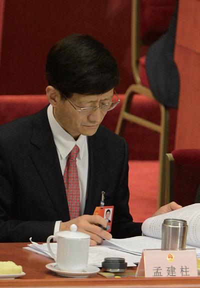 不再兼任中央綜治委主任  政法黨政分道  孟建柱兼職被悄悄抹去