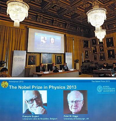 「上帝粒子」解釋宇宙起源 英比科學家獲諾獎