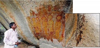印度史前壁畫 驚現外星人形象