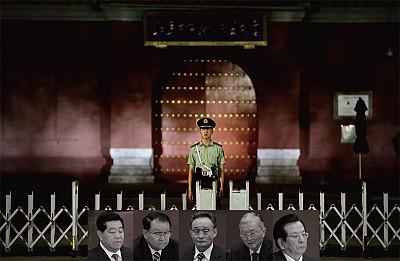 將要被清洗的五名中共前政治局常委