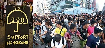 雨傘運動升級 香港成了中共兩派爭奪的戰場
