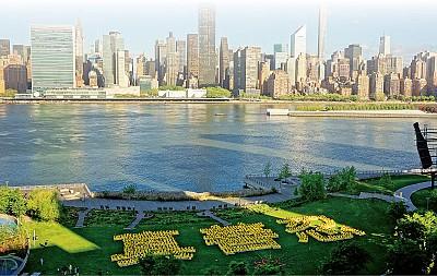 8000多人盛大遊行 法輪功震撼曼哈頓
