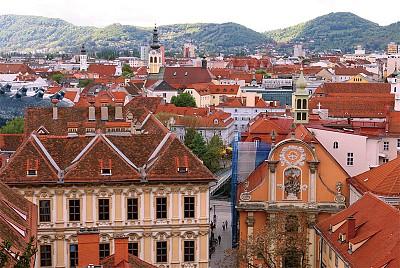 >奧地利文藝復興古城格拉茨