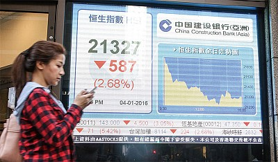 2016首交易日A股跌7%熔斷 全球股市開門黑