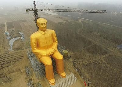 36米毛像被官方拆除 或釋信號——中共將被拋棄