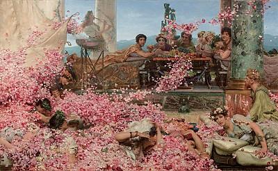 埃琉卡巴勒斯的玫瑰雨 畫中有話