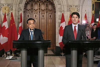李克強訪問加拿大 有望簽訂引渡協議
