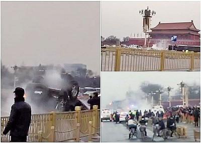 天安門翻車陸媒噤聲 無人機導致機場停飛