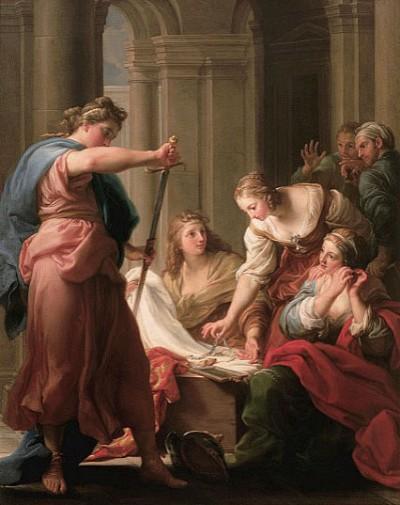 阿基里斯在呂科墨得斯王宮