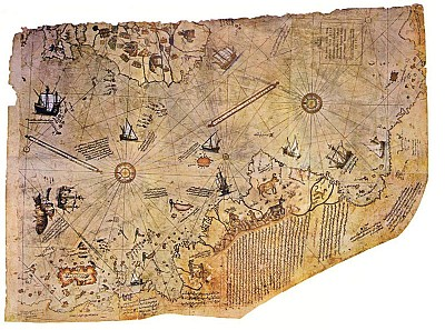 >兩張500年前世界地圖盡顯古文明之發達
